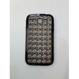 گارد ژله ای مشبک نگین دار نقره ای Huawei Grand1