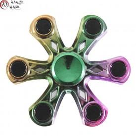 اسپینر فلزی شش پره ای کریستال 7 رنگ