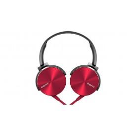 هدفون با سیم Sony مدل MDR-XB450 قرمز