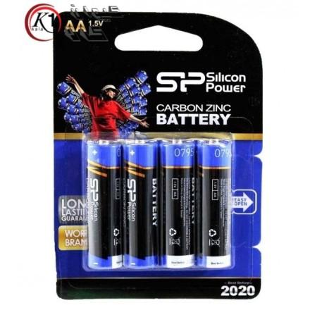 باتری قلمی 4 تایی سیلیکون پاور SP AA پک دار|باطري قلمي|باتري|باطري|كيوان كالا