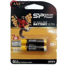 باتری نیم قلمی SP دوتایی ALKALINE|باتري|باطري| باتری نيم قلمی 2 تایی سیلیکون پاور SP AAA پک دار|كيوان كالا