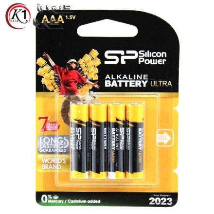 باتری نیم قلمی 4 تایی سیلیکون پاور SP AAA پک دار|باتري|باطري|باتري سيليكوني|كيوان كالا
