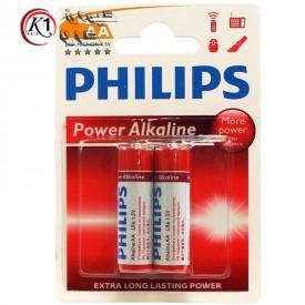 باتری قلمی Philips|باتري قلمي 2 تايي فيليپس PHILIPS AA پك دار|باتري|باطري|باتري فيليپس|كيوان كالا