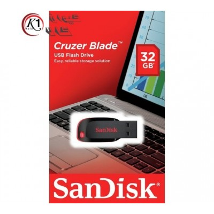 فلش مموري سن دیسک مدل Cruzer Blade CZ50 ظرفيت32 گيگابايت|Sandisk Cruzer Blade Flash Memory 32GB|كيوان كالا