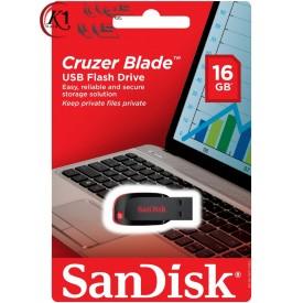 فلش مموري سن ديسک مدل کروزر بليد ظرفيت 16 گيگابايت|SanDisk Cruzer Blade Flash Memory 16GB|كيوان كالا