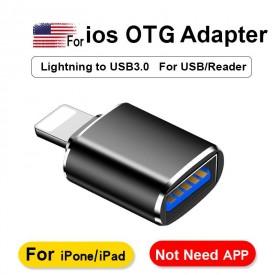 تبدیل OTG ایفون USB3 فلزی مدل GL-163