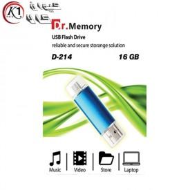 فلش OTG-USB DR.Memory 16GB مدل D-214|کیوان کالا