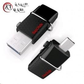 فلش مموري سن ديسك مدل Ultra Dual USB Drive 3.0 ظرفيت 16 گيگابايت|San Disk Ultra Dual USB 3.0 Flash Memory 16GB|كيوان كالا