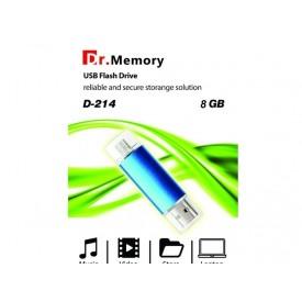 فلش مموری دکتر مموری OTG-USB مدل D-214 ظرفیت 8گیگابایت