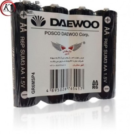 باتری قلمی4 تایی daewoo AA
