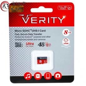 کارت حافظه microSDHC وریتی مدل  UHS-I U1 ظرفیت 8 گیگابایت