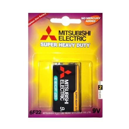 باتری 9V کتابی MITSUBISHI مدل 6F22