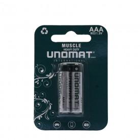 باتری نیم قلمی AA آلکالاین UNOMATدو عددی