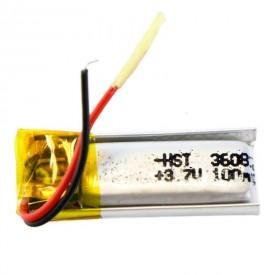 باتری لیتیوم  ۱۰۰mAh 23*8*3mm کد 5234